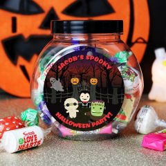 Personalised Halloween Sweet Jar Gift