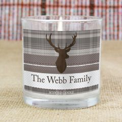 Personalised Highland Stag Scented Candle in Jar