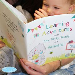 Personalised Tiny Tatty Teddy Bear Learning Adventure Book