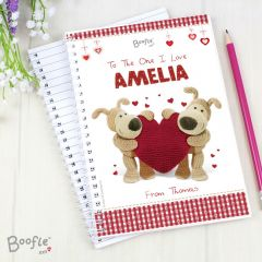 Personalised Boofle Shared Heart Notebook