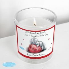 Personalised Me To You Heart Scented Candle in Jar