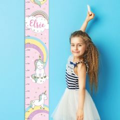 Personalised Baby Unicorn Childrens Height Chart
