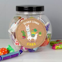 Personalised Llama Sweet Jar Gift