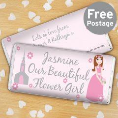 Personalised Fabulous Flower Girl  Chocolate Bar
