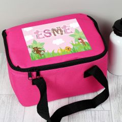 Personalised Girls Animal Alphabet Letter Lunch Bag