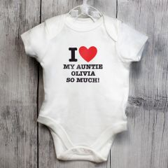 Personalised I HEART Baby Vest 0-3 Months