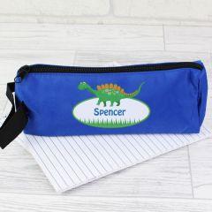 Personalised Dinosaur Design Blue Pencil case