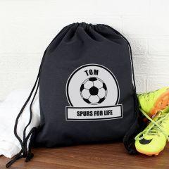 Personalised Football Fan Drawstring Bag