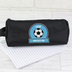 Personalised Blue Football Fan Pencil Case