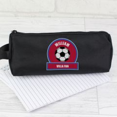 Personalised Red and Blue Football Fan Pencil Case