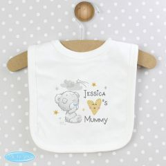 Personalised Tiny Tatty Teddy Bear I Heart Baby Bib