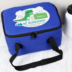 Personalised 'Be Roarsome' Dinosaur Childrens Lunch Bag