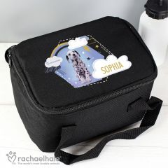 Personalised Dalmatian Black Lunch Bag by Rachael Hale