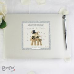 Personalised Boofle Bear Wedding Guest Book & Pen