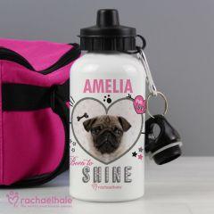Personalised Doodle Pug Drinks Bottle by Rachael Hale