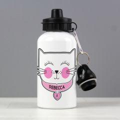 Personalised Cute Cat Design Drinks Bottle