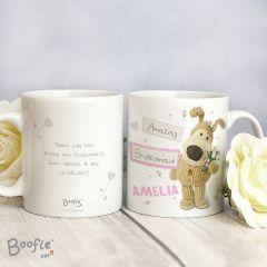 Personalised Boofle Bear Female Wedding Mug