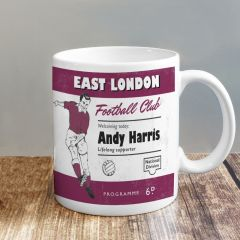 Personalised Vintage Design Football Claret Supporter's Mug