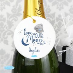 Me To You Personalised 'Love You to the Moon and Back' Round Decoration