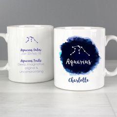 Personalised Aquarius Star Sign Mug (January 20th - February 18th)