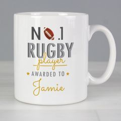 Personalised The No.1 Rugby Player Mug