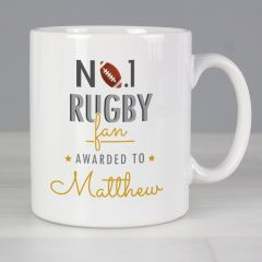 Personalised The No.1 Rugby Fan Mug