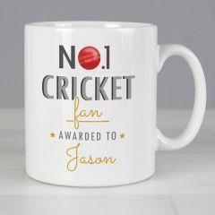 Personalised The No.1 Cricket Fan Mug