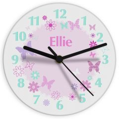 Personalised Butterfly Design Clock