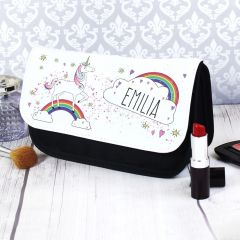 Personalised Unicorn Design Make Up Bag