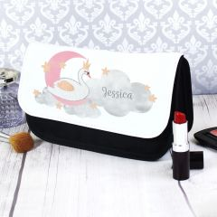 Personalised Swan Lake Design Make Up Bag