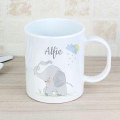 Personalised Hessian Elephant Plastic Mug