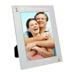 Personalised Silver 30th Wedding Anniversary Photo Frame 5x7