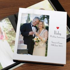 Personalised Decorative Ruby Anniversary Photo Frame Album 6x4