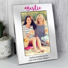 Personalised #Bestie Friends Silver Photo Frame 6x4
