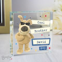 Personalised Boofle Bear Stars Large Crystal Token