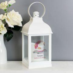 Personalised Swan Lake Design White Lantern