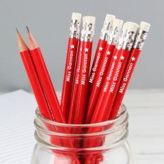 Personalised Motif Design Motif Red Pencils