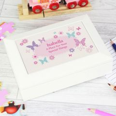 Personalised Butterfly Design Jewellery Box