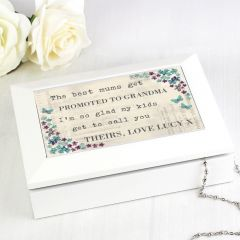 Personalised Forget me not Design Jewellery Box