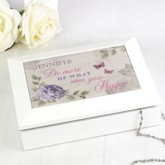 Personalised Secret Garden Design Jewellery Box