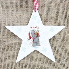 Me To You Personalised Wooden Wooden Star Decoration