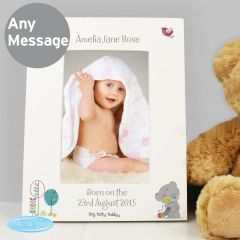 Personalised Tiny Tatty Teddy Cuddle Bug White Photo Frame 6x4