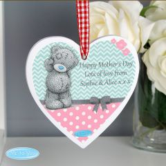 Me To You Personalised Pastel Polka Dot for Her Wooden Heart Decoration