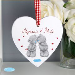 Me To You Personalised Couples Wooden Heart Decoration