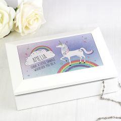 Personalised Unicorn Design Jewellery Box