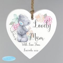 Me To You Personalised Floral Wooden Heart Decoration