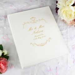 Personalised Gold Ornate Swirl Traditional Photo Album