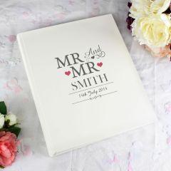 Personalised Mr & Mr Traditional Photo Album