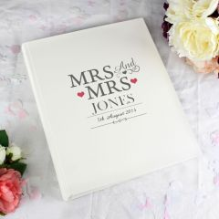 Personalised Mrs & Mrs Traditional Photo Album