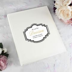Personalised Art Deco Striped Photo Album with Sleeves